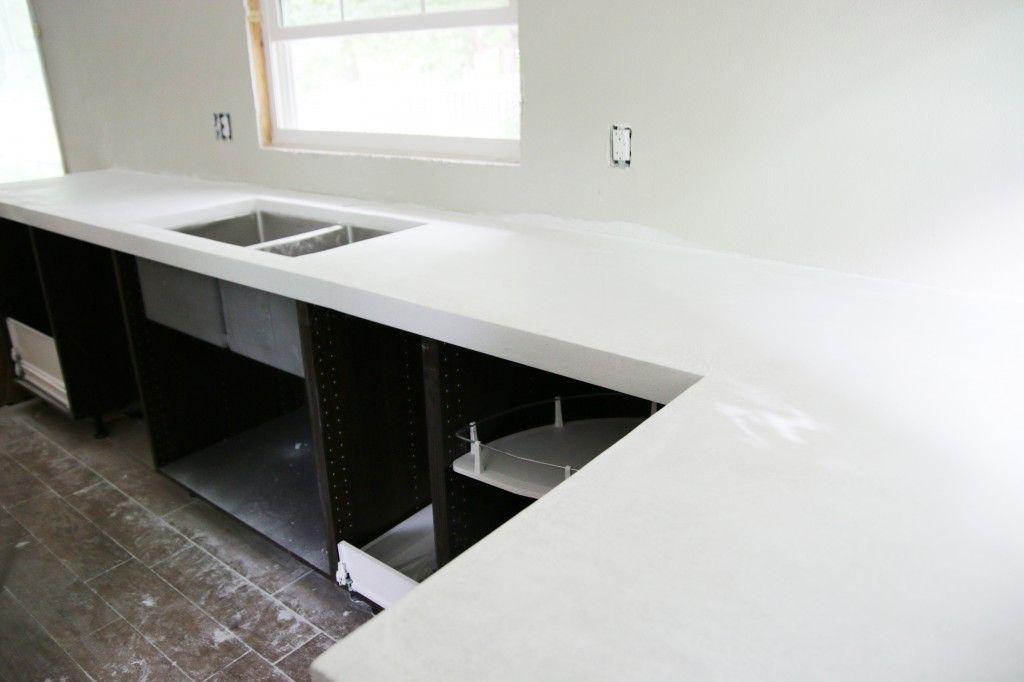 Diy White Concrete Countertops