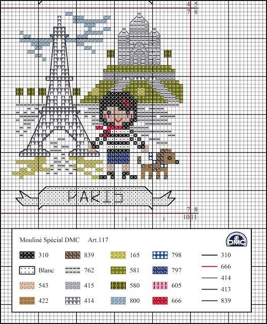 El blog de Dmc: viaje por europa | Embroidery | Punto de cruz, Punto ...