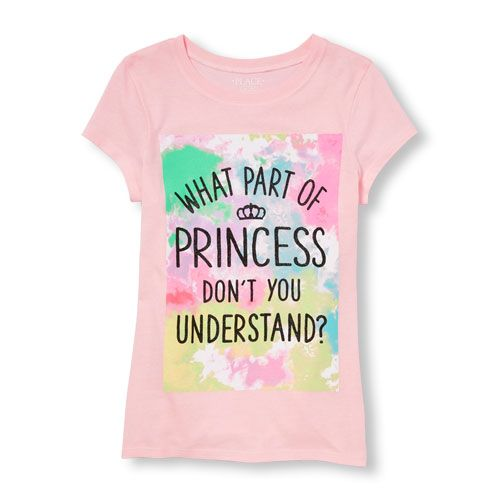 a97504568 s Short Sleeve Glitter 'What Part Of Princess Don't You Understand?' Graphic  Tee - Pink T-Shirt - The Children's Place
