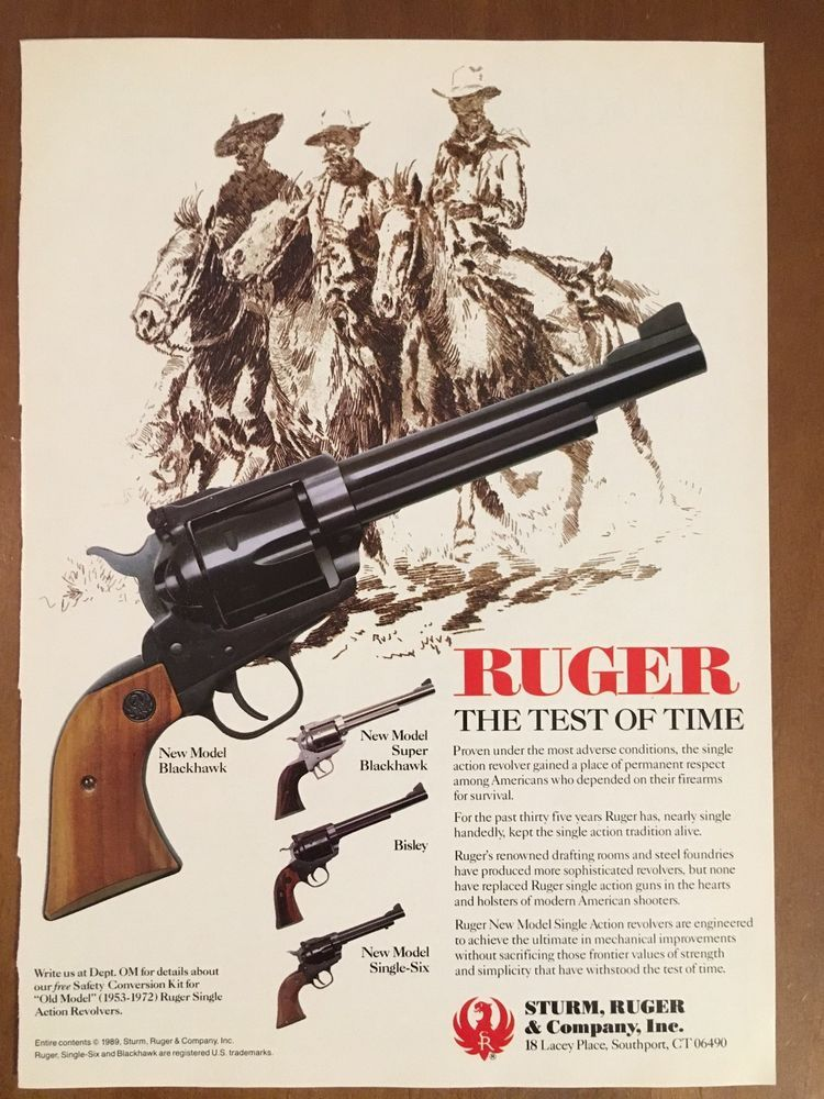Details about 1989 Ruger New Model Blackhawk, Single-Six