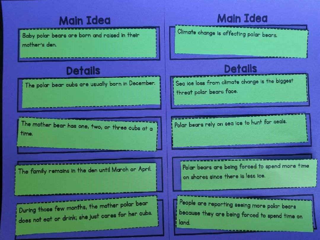 Main Idea And Details Sentence Sort Thrifty In Third Grade Main Idea Nonfiction Main Idea Reading Main Idea