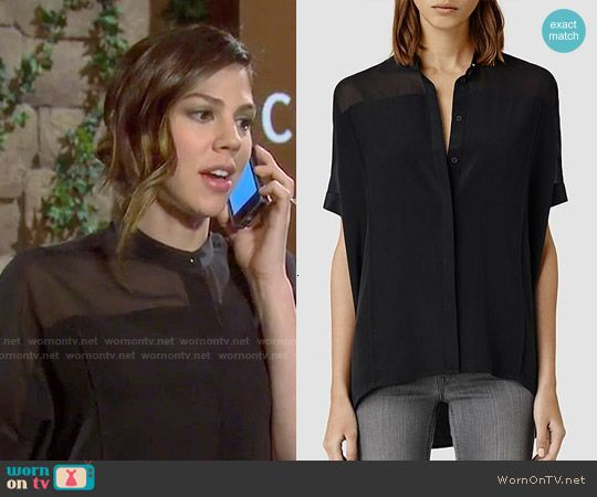 Abigail S Black Sheer Shirt On Days Of Our Lives With Images