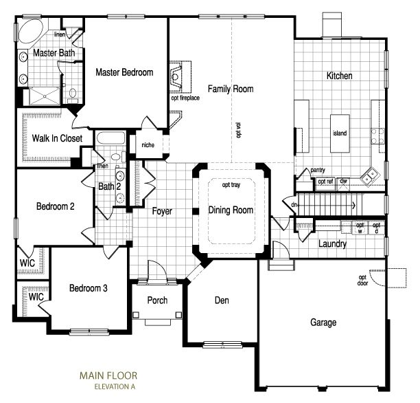 Floor Plans Luxury Lake Home: Small And Luxury Ranch Floor Plan
