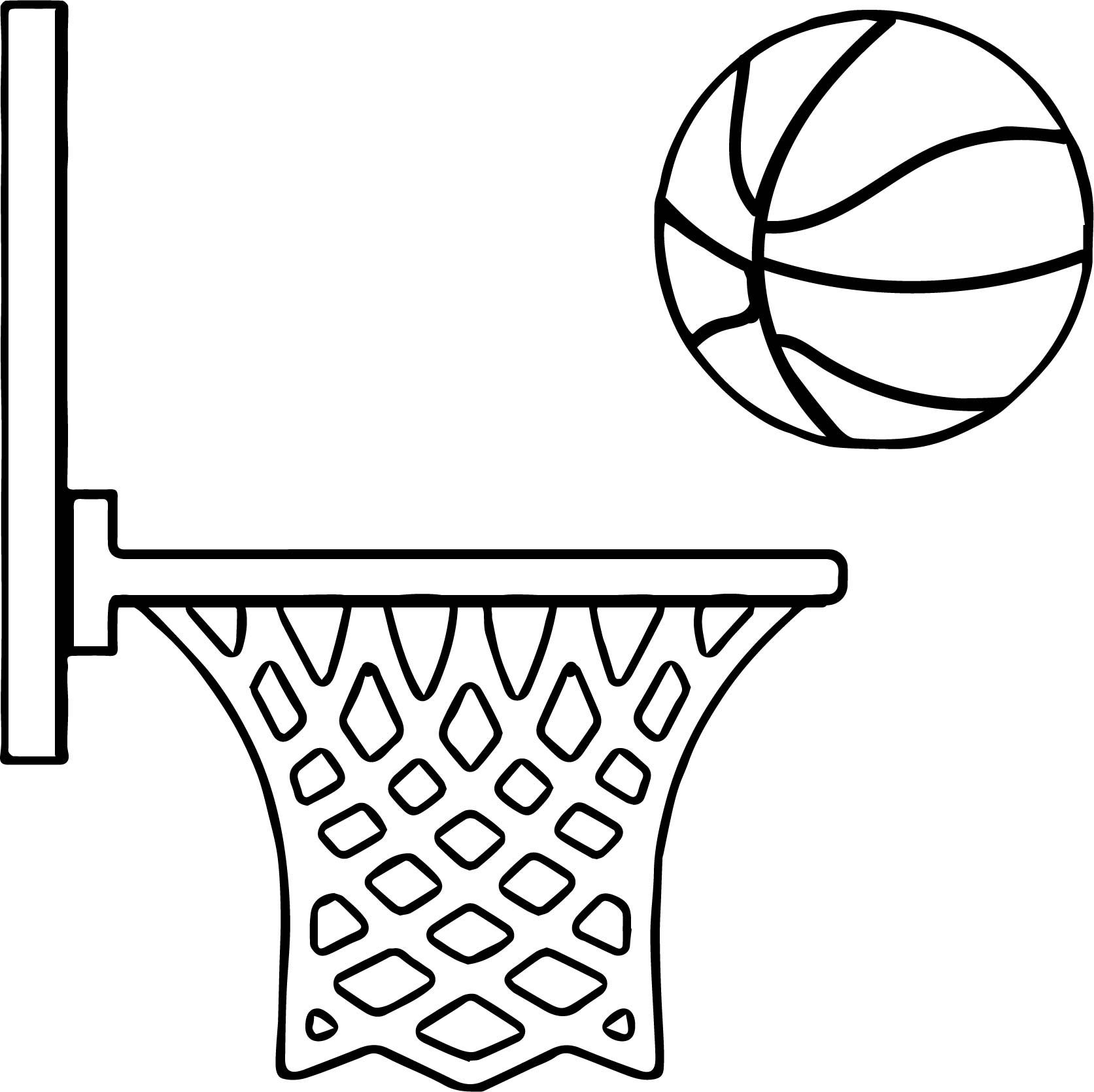 Basketball Coloring Page In 2020 Sports Coloring Pages Coloring