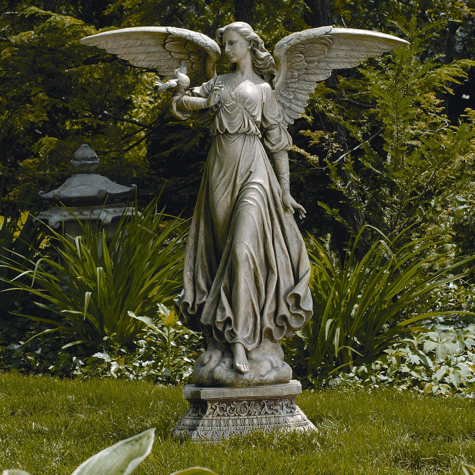 for angels large club wintersun statues sale statuary the garden angel