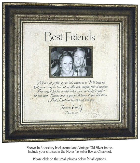 Unique Wedding Gifts For Best Friend: Personalized Picture Frame Best Friend Sister Wedding Gift