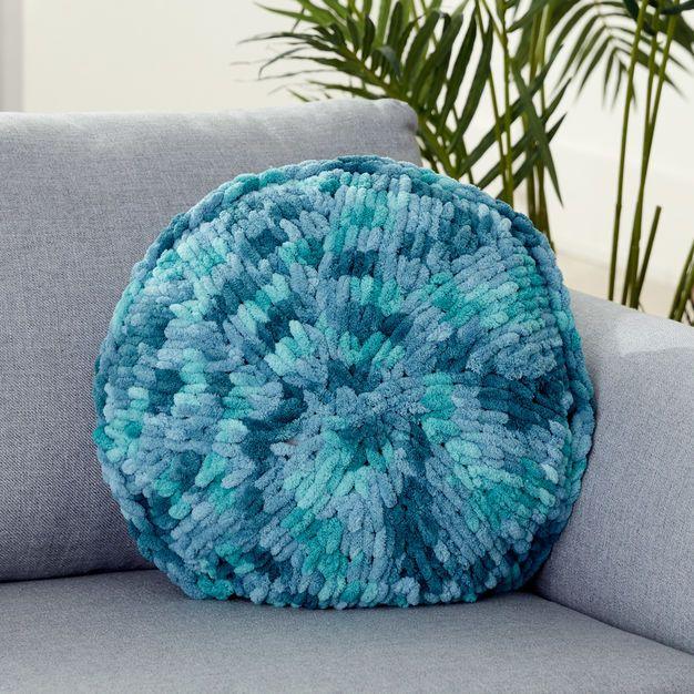 Bernat Alize Ez Round Pillow Knitting Patterns Pillows