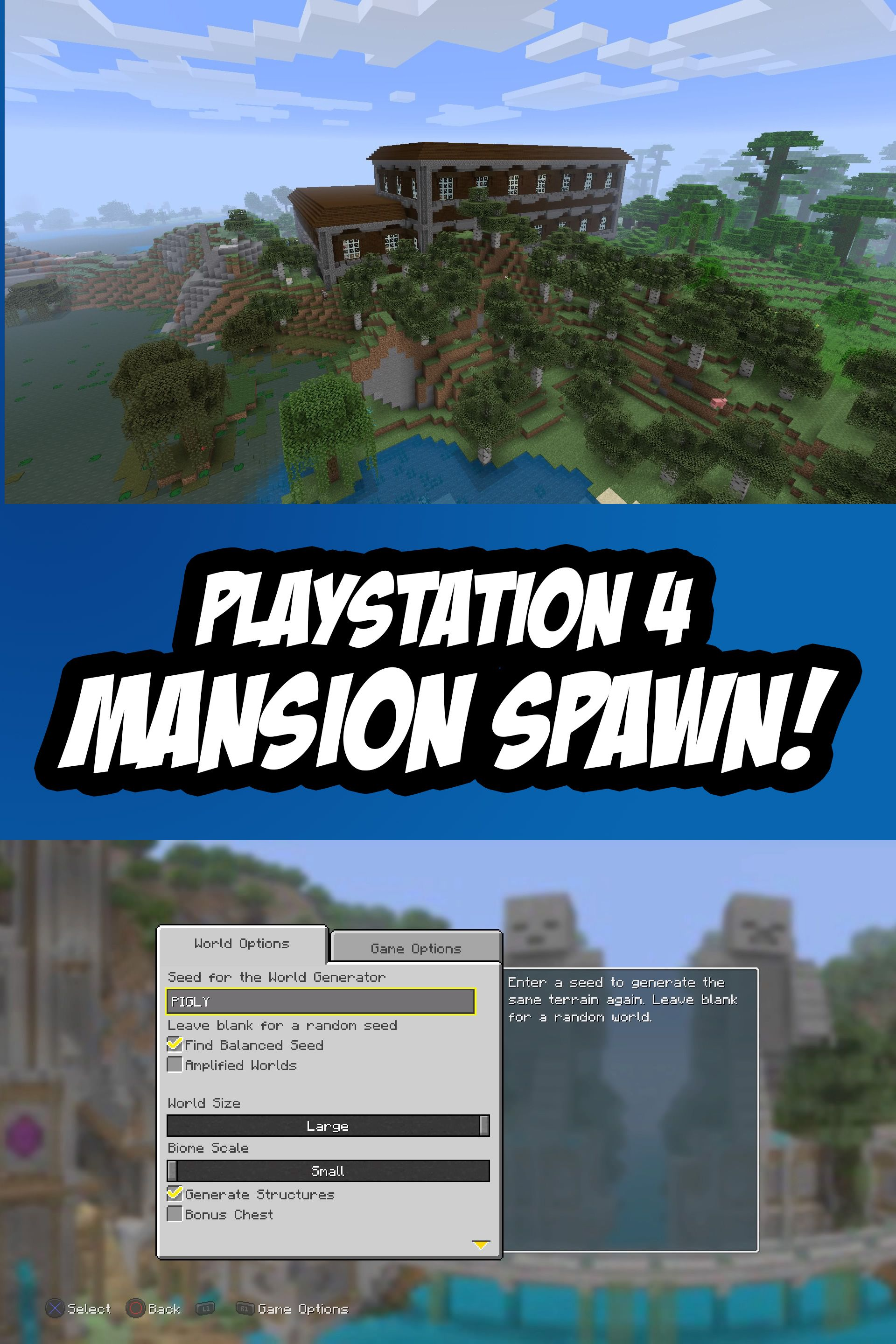 Pin on Minecraft PS8 Seeds