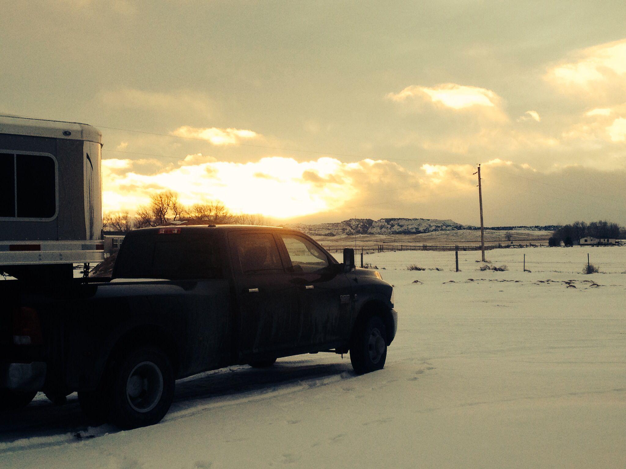 Dodge ram dually pulling 40 ft horse trailer Love my pickup