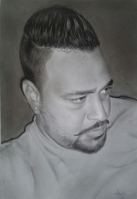 Charcoal graphite on paper patara jalandhar india