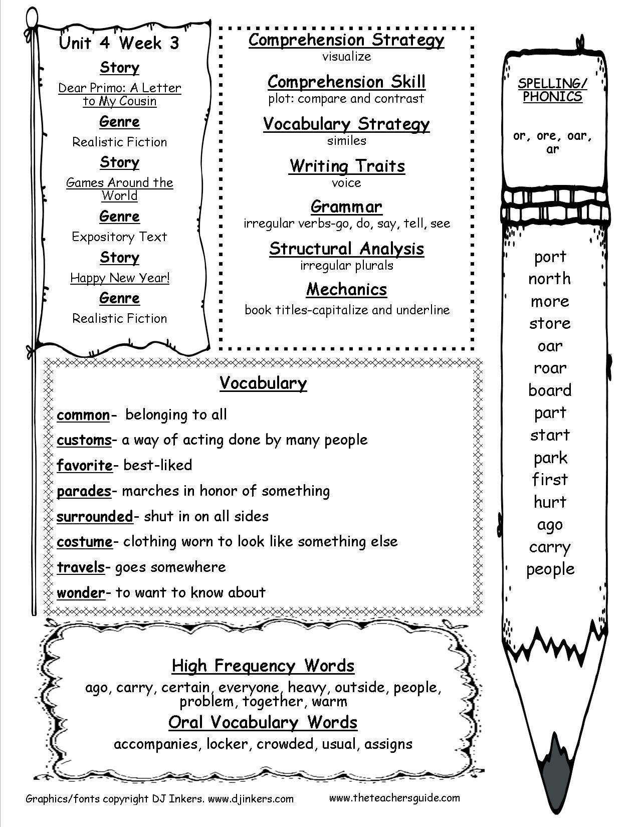 Worksheets For 3rd Grade Irregular Verb