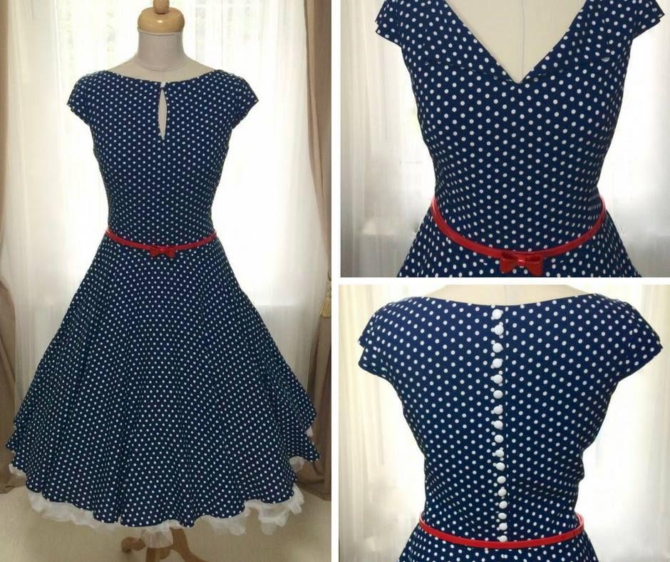 09659ca6efad denní retro šaty DAISY mají vyriabilní střih se zapínáním na knoflíček.  Materiál je lehounká a