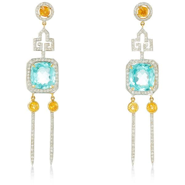 Hanut Singh Deco Ice Picks Earrings (€9.880) ❤ liked on Polyvore featuring jewelry, earrings, orange earrings, orange jewelry, art deco jewellery, art deco jewelry e art deco-inspired jewelry