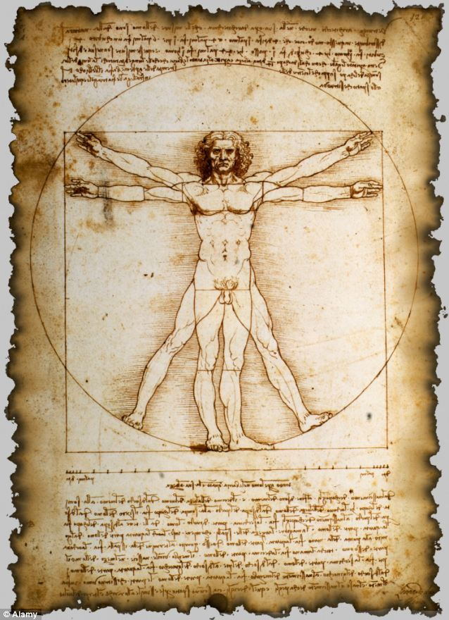 Da Vinci's iconic Vitruvian Man 'was copied from a fellow ...