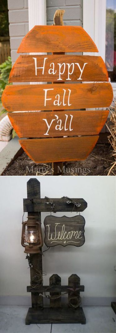 20+ Pallet Wood Halloween Decoration Ideas (With images ...