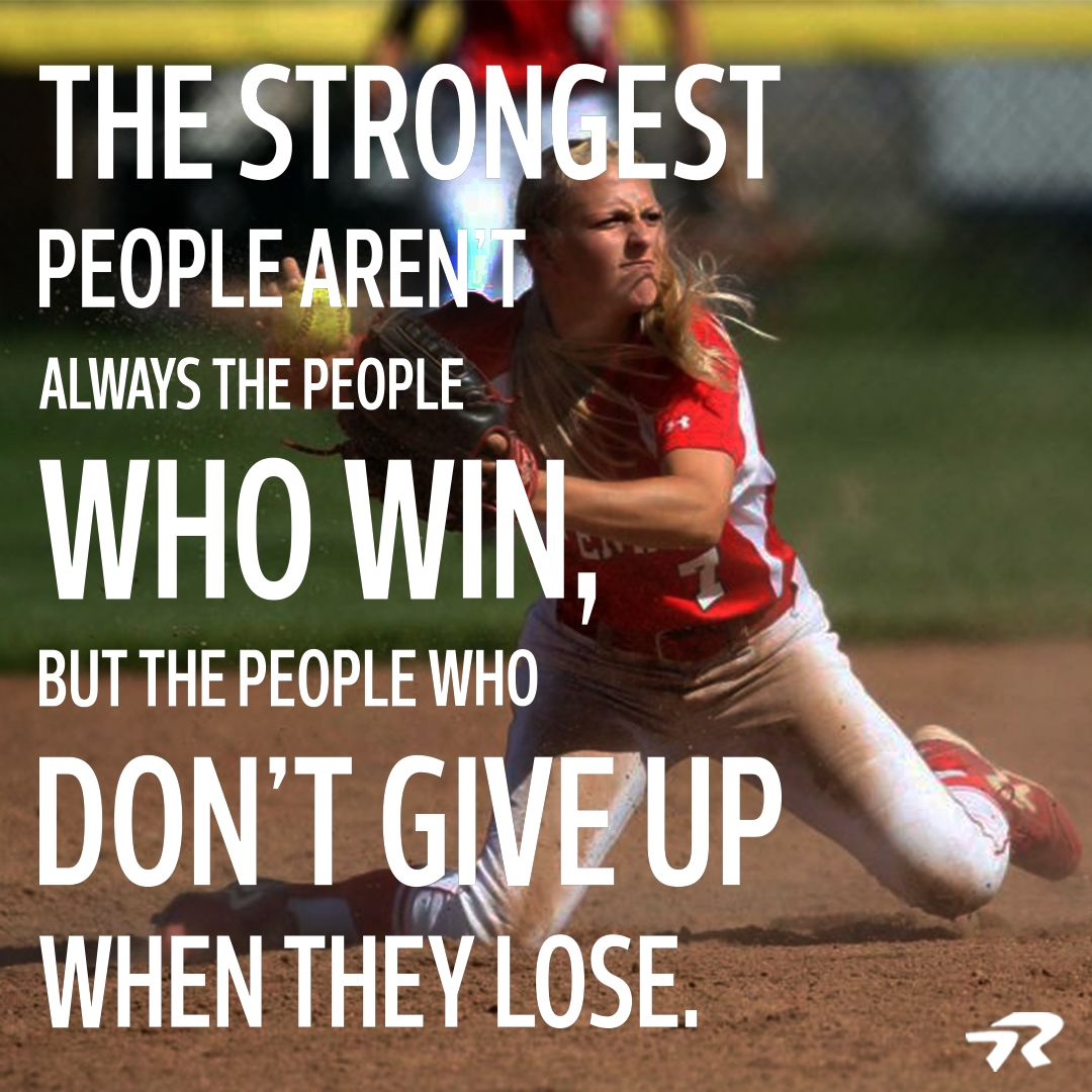 Motivational Softball Quotes: This Is Very True ! This Is Me Evrey Team Looses At Some