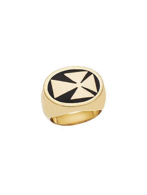 Σεβαλιέ Δαχτυλίδι Ασημένιο σε Κίτρινο Χρώμα με Σμάλτο Αναφορά 014315  Δαχτυλίδι σεβαλιε από Ασήμι 925 σε 5141a50f6a3
