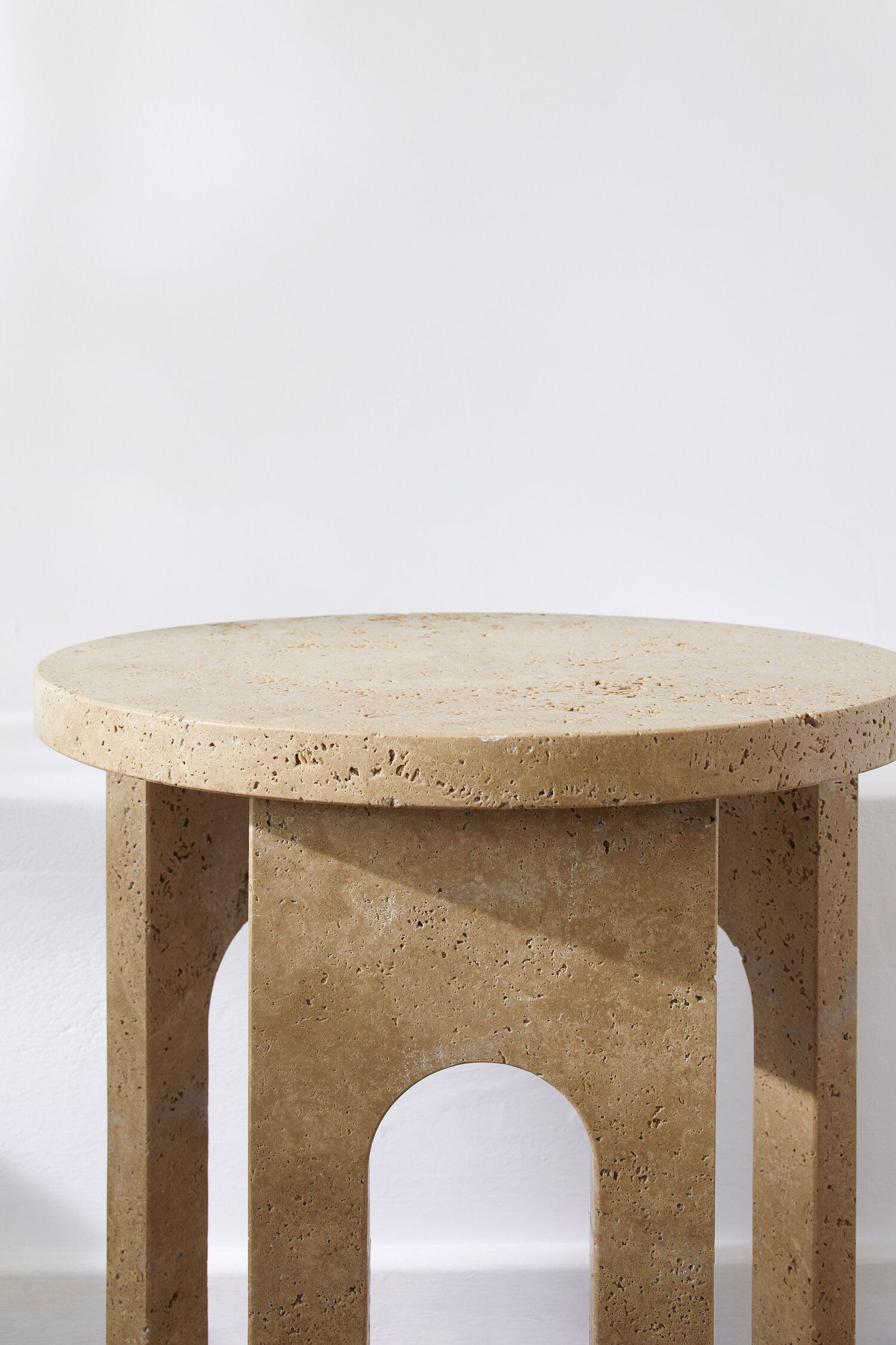 Bofred Wadi Side Table Travertine Sculptural Furniture New Furniture Furniture Collection [ 2250 x 1500 Pixel ]