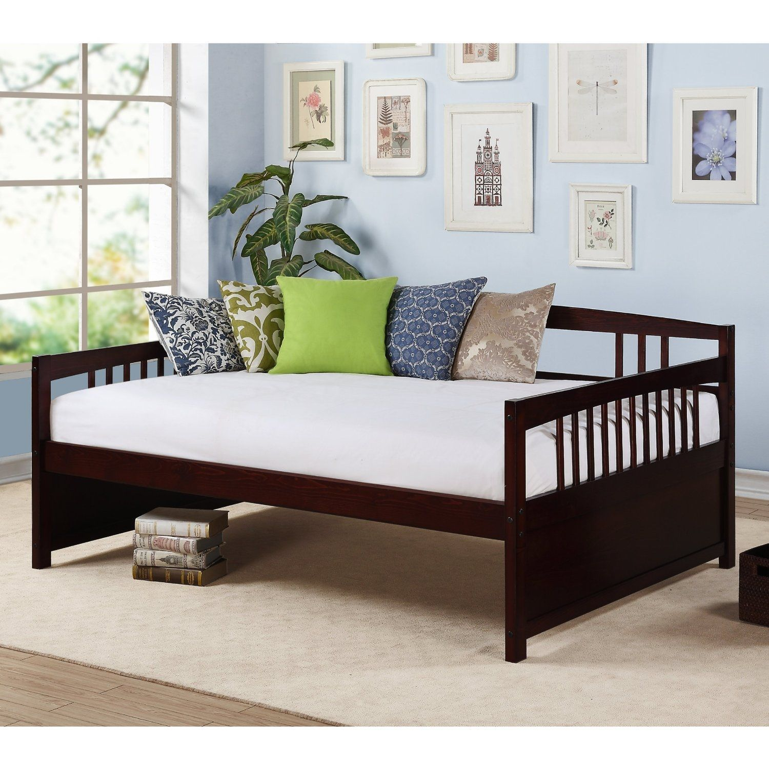 Simple Wooden Full Size Daybed Frame Design