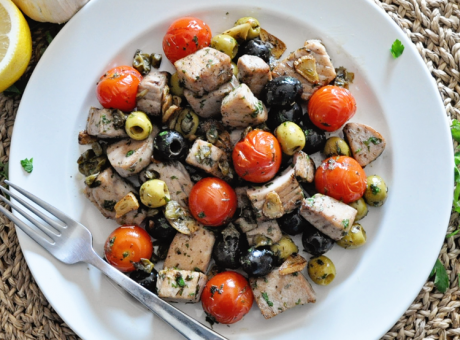 SPANISH TUNA SAUTÉ With Olives, Garlic & Lemon #seafoodstew