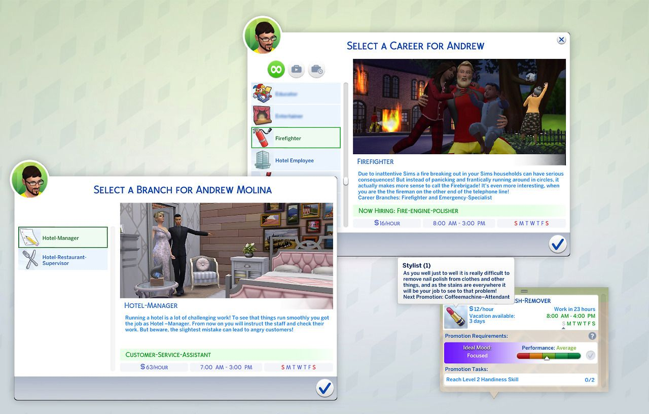 Our new mod: 4 new careers for your sims by sims-blog de
