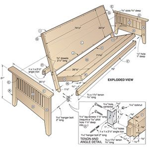 Futon Bed Woodworking Plan Work Projects And Plans