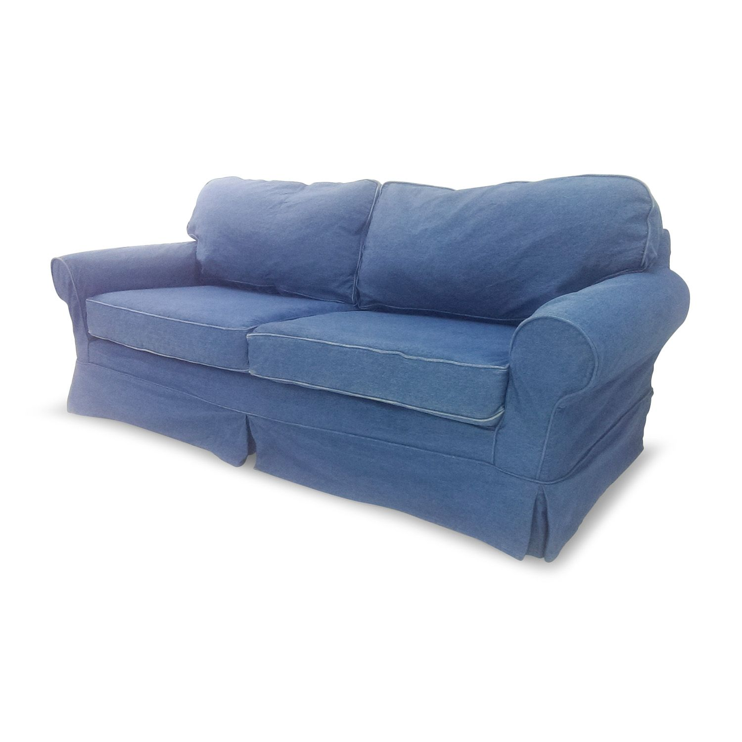 Pin On Blue Denim Couch