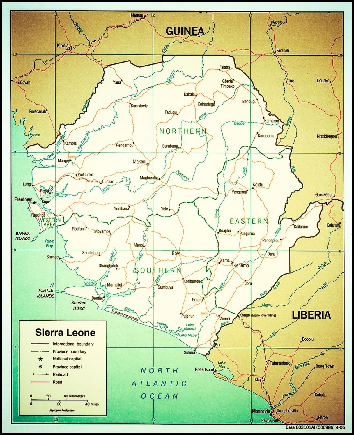 sierra leone map Sierra Leone Pinterest Sierra leone Liberia