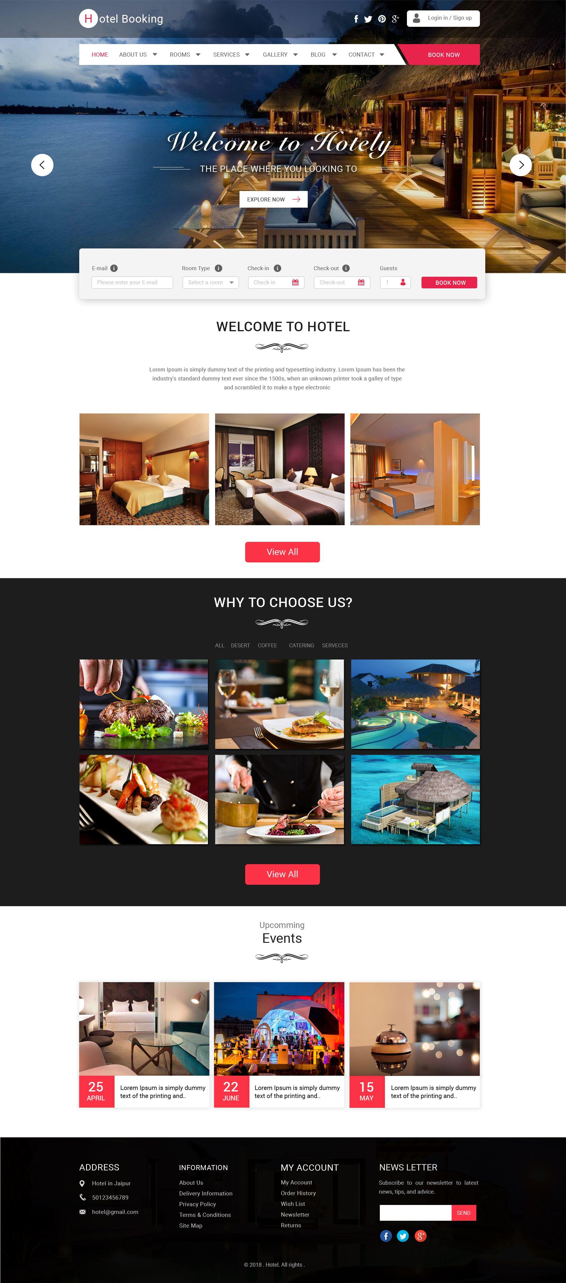 Hotel Reservation Websites Templates With Images Hotel Website