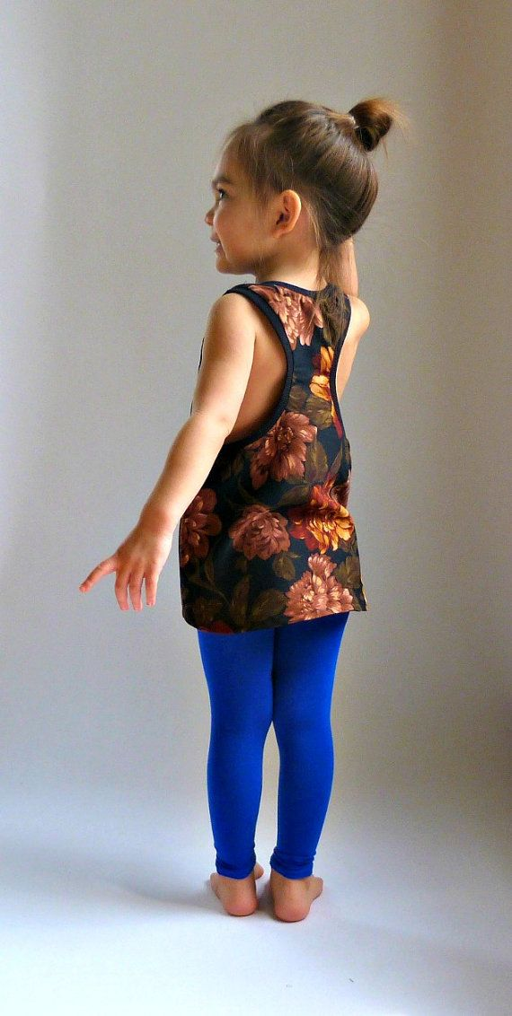 bb331d282e80d6 Sweet little girls in electric blue leggings?! Ovaries officially in  hyperdrive. (DOLI Tank PDF Sewing Pattern Racer Back Tank by LouBeeClothing)