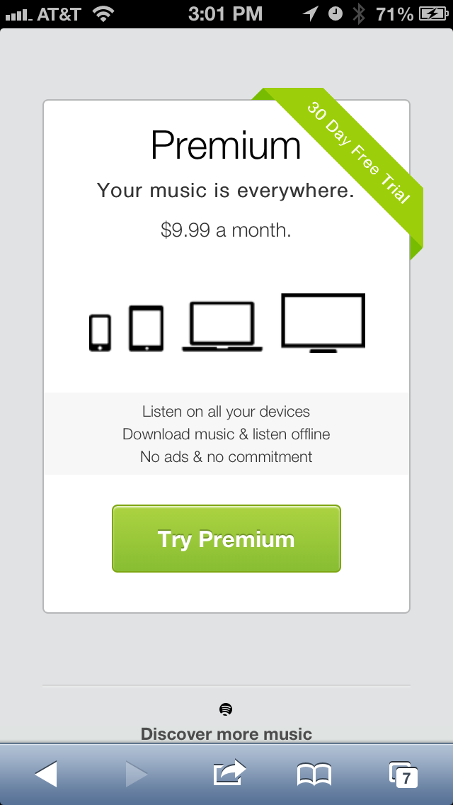 Spotify Pricing Page Your music, How to plan, Discover