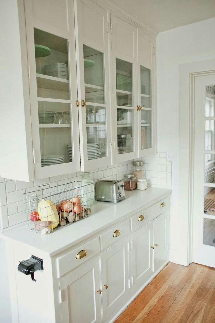 Use Latches For Upper Cabinetry And A Mix Of Hardware For Lowers Kitchen Renovation Vintage Kitchen Cabinets 1920s Kitchen