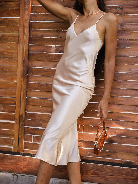 Creamy Silk Slip Dress Midi Bridal Bias Silk Dress Silk Etsy Slip Dress Silk Slip Silk Slip Dress [ 3000 x 2250 Pixel ]