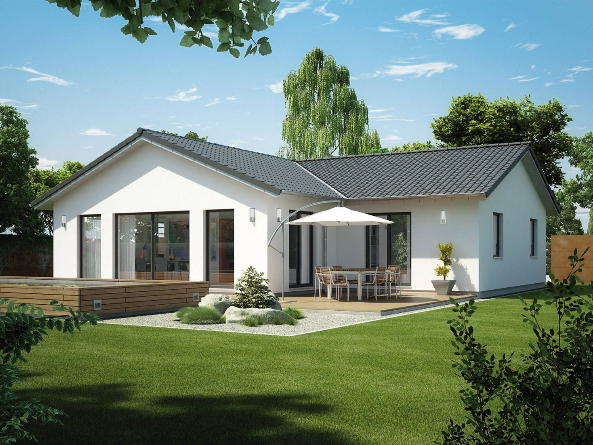 modulhaus icon bungalow singlehaus von dennert massivhaus barrierefreies haus mit. Black Bedroom Furniture Sets. Home Design Ideas