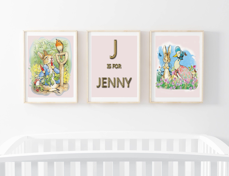 Rabbit Nursery Artbaby Girl Peter Rabbit Baby Shower Peter