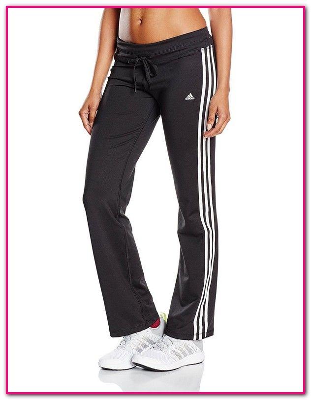 9a6c2addf4735e Adidas Hose Damen Lang Schwarz-adidas Damen Trainingshose Essentials  3-Streifen