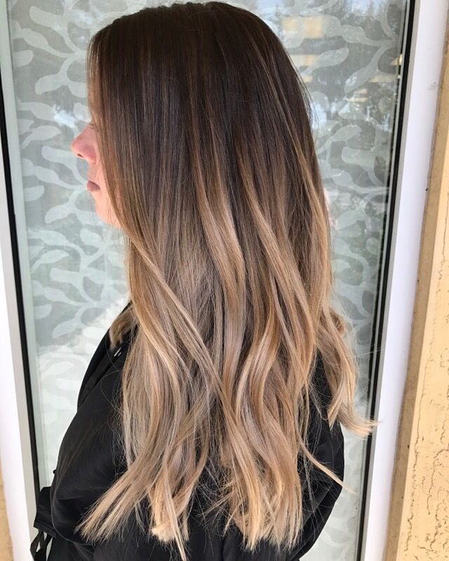 balayage color melt hair