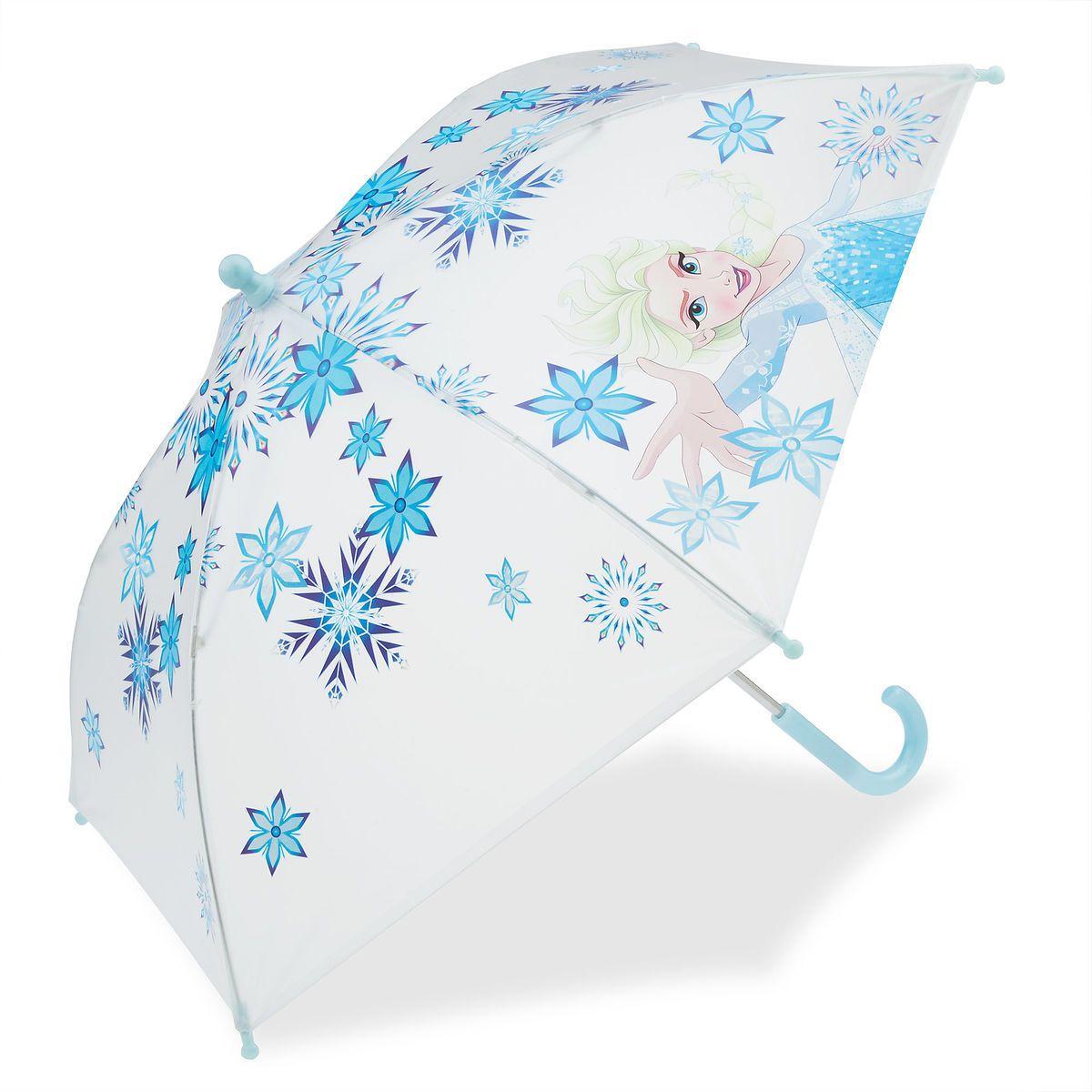 Umbrella Children Kids Elsa Anna Frozen Character Girl Illuminating Lighting Up