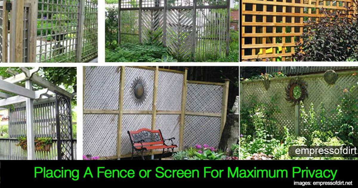 """Most homeowners enjoy their backyard and the privacy which can come from natural barriers like trees, hedges, vines, and shrubs, but take time to become established. One solution is to add a privacy screen or fence, while waiting for long-term plantings to mature. You May Also Like: """"Secret"""" Ways For Creating Garden Privacy Garden Privacy …"""