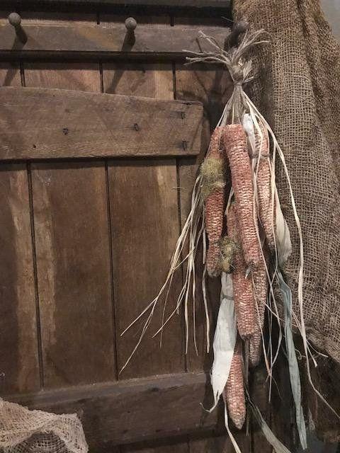 Primitive Dried Corn Corn Cobs Early Look Homestead Peg ...