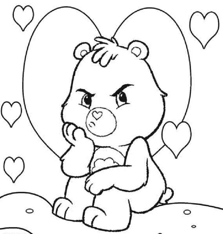 Grumpy Bear Is In Bad Mood In Care Bear Coloring Page Coloring Sun Bear Coloring Pages Coloring Pages Baby Coloring Pages
