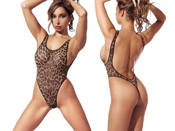 ea9f73513c0 Erotic Transparent One Piece Swimsuit Bodysuit Bathing Suit Monokini  Swimwear Hot Thong High Cut Leg