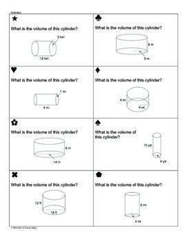 Volume Of Cylinders Cones And Spheres Sum Em Activity 7th