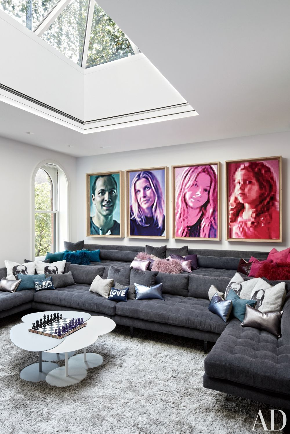 Contemporary mediagame room by pamplemousse design and oliver cope