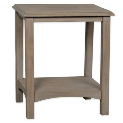 Stylecraft Rectangular Accent Table In Distressed Grey Table