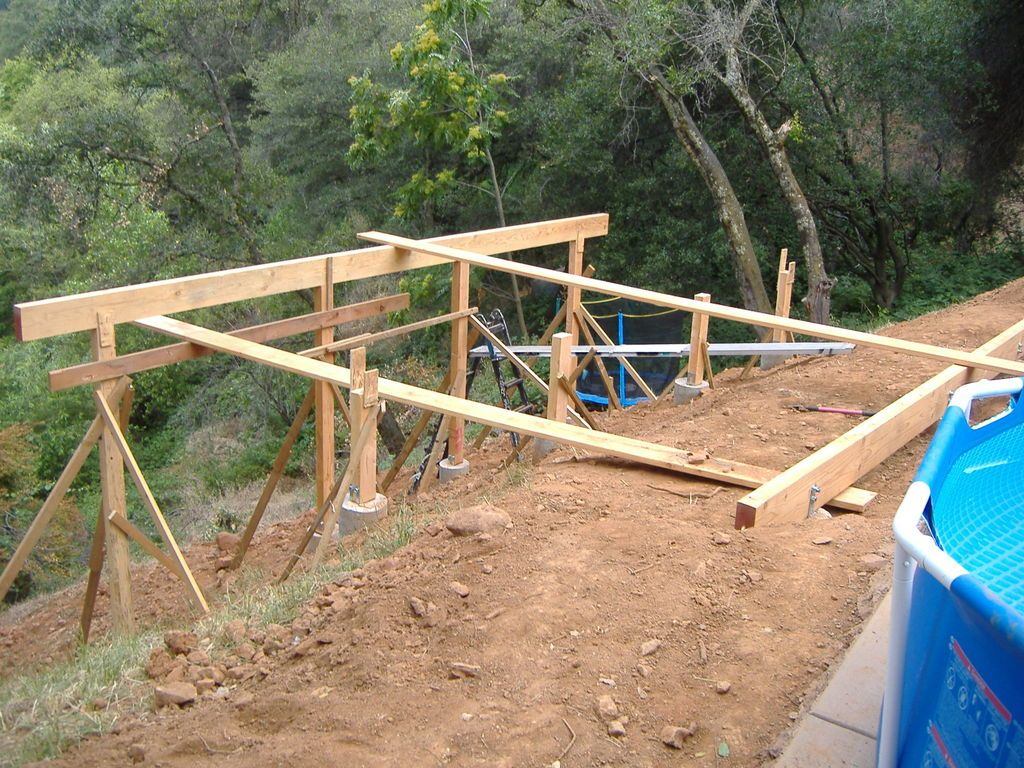 Tools Building A Deck Deck Building Plans Hillside Deck