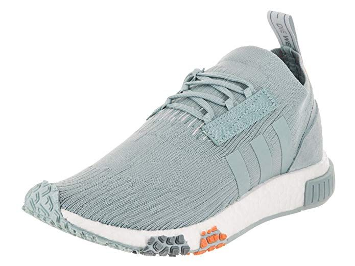 adidas NMD Racer Primeknit Womens In Ash GreyBlue Tint by