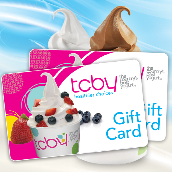 TCBY Gift Cards make the perfect holiday gift! Pick