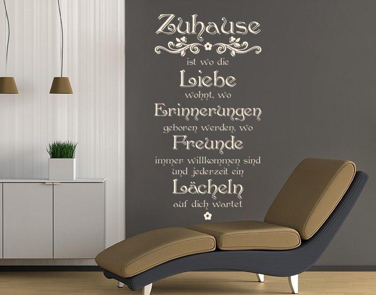 New Wandtattoo Zuhause