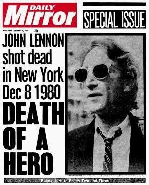 John Lennon Shot Dead in New York, Dec 8th 1980.
